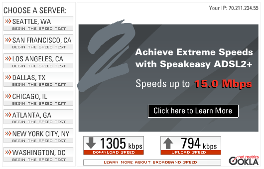 EVDO Speed Test