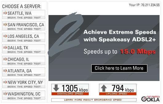 EVDO Speed Test