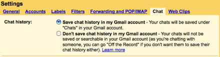 GMail Chat Tab