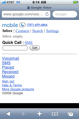 Google Voice iPhone