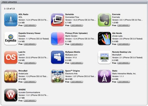 13 App Updates