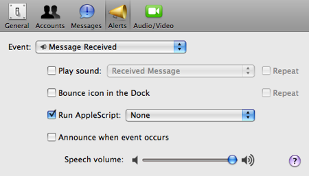 iChat AppleScript